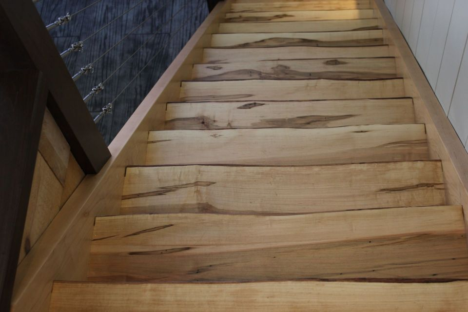 ... SM Stairs With Live Edge 4 ...